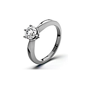 Photo of Certified 0.5CT Chloe High 18K White Gold Engagement Ring H/SI2 Jewellery Woman