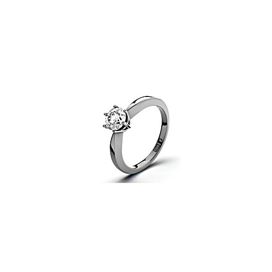 Certified 0.5ct Chloe High 18K White Gold Engagement Ring H/SI2