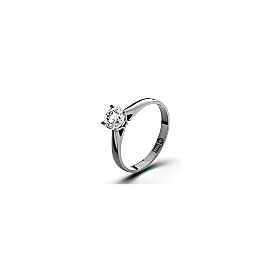 Certified 0.50CT Petra 18K White Gold Engagement Ring G/VS2