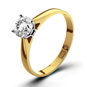 Photo of Certified 0.70CT Petra 18K Gold Engagement Ring g/VS2 Jewellery Woman