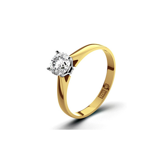 Certified 0.70CT Petra 18K Gold Engagement Ring G/VS2