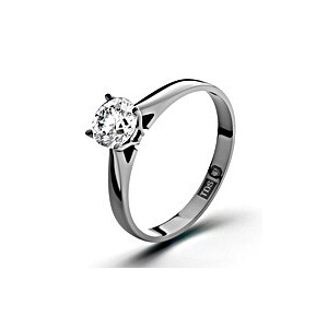 Photo of Certified 0.7CT Petra 18K White Gold Engagement Ring H/SI2 Jewellery Woman