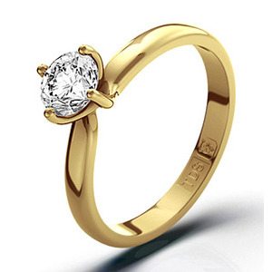 Photo of Certified 0.50CT Lily 18K Gold Engagement Ring g/VS1 Jewellery Woman
