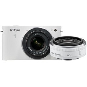 Photo of Nikon 1 J1 Digital Camera With 10MM and 10-30MM Twin Lens Kit Digital Camera