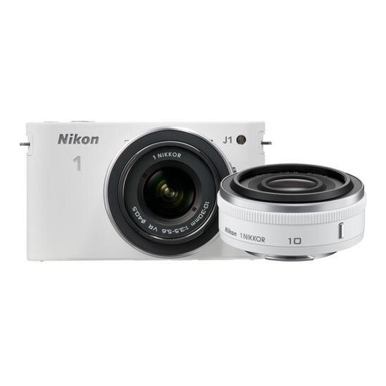 Nikon 1 J1 Digital Camera with 10mm and 10-30mm Twin Lens Kit