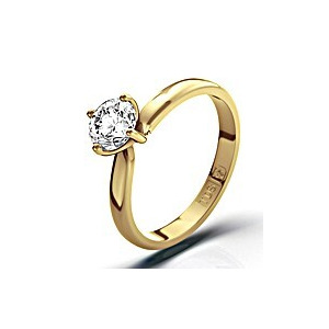 Photo of Certified 0.7CT Lily 18K Gold Engagement Ring g/VS2 Jewellery Woman