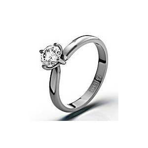 Photo of Certified 0.50CT Lily 18K White Gold Engagement Ring H/SI2 Jewellery Woman