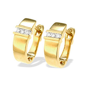 Photo of 9K Gold Diamond Earrings(0.05CT) Jewellery Woman