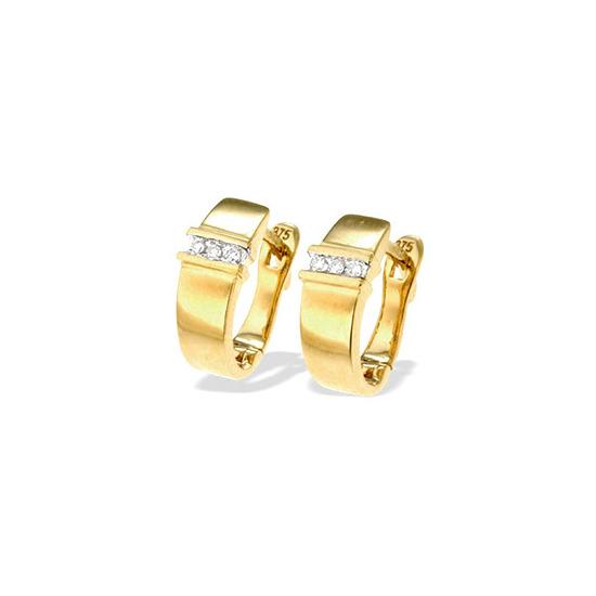 9K Gold Diamond Earrings(0.05ct)