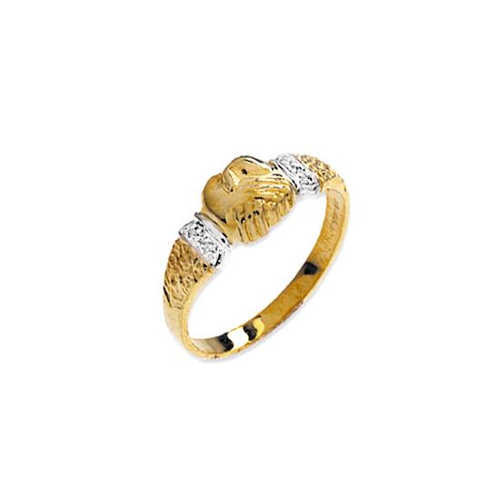 9K Gold Diamond Detail Ring