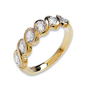 Photo of 9K Gold Diamond Twist Design Ring Jewellery Woman