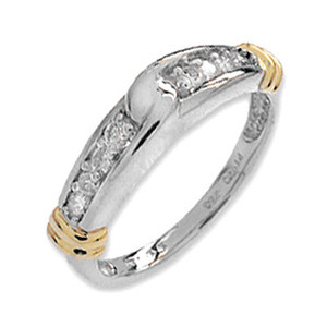 Photo of 9K White Gold Diamond Channel Set Ring (0.25CT) Jewellery Woman