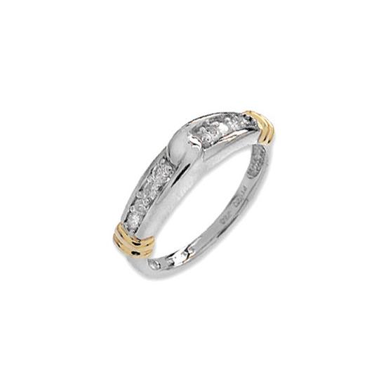 9K White Gold Diamond Channel Set Ring (0.25ct)