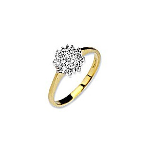 Photo of 9K Gold Diamond Cluster Ring Jewellery Woman