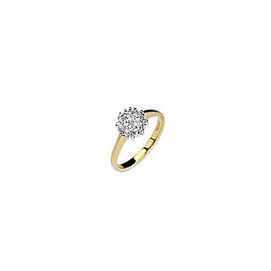 9K Gold Diamond Cluster Ring
