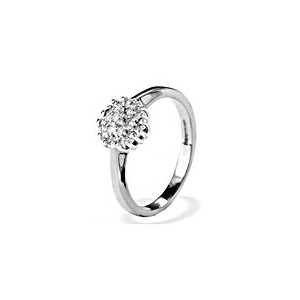 Photo of 9K White Gold Diamond Cluster Ring Jewellery Woman