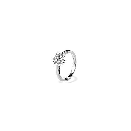 9K White Gold Diamond Cluster Ring