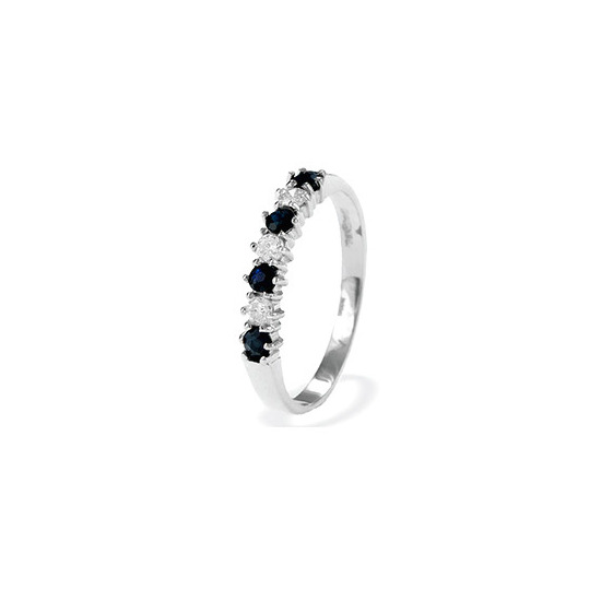 9K White Gold Sapphire and Diamond Eternity Ring