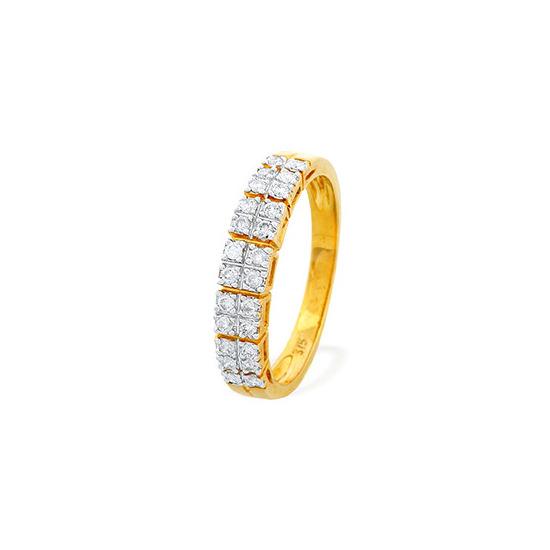 9K Gold Diamond Detail Half Eternity Ring (0.25ct)