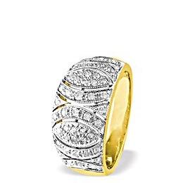 9K Gold Diamond Detail Ring (0.41ct) Reviews