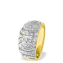 9K Gold Diamond Detail Ring (0.41ct) Reviews