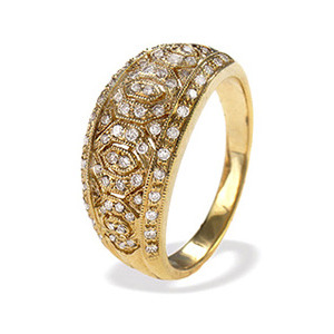 Photo of 9K Gold Diamond Detail Ring (D0.40CT) Jewellery Woman