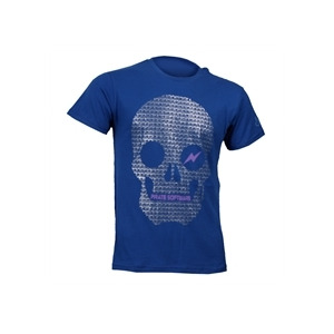 Photo of Joystick Junkies Pirate Skull Printed Tee - Blue T Shirts Man