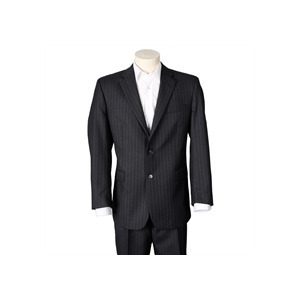 Photo of Berwin and Berwin Grey Chalk Stripe Suit Shirt