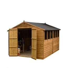 Cornwall 10X 8 Overlap Apex Shed with Double doors Reviews