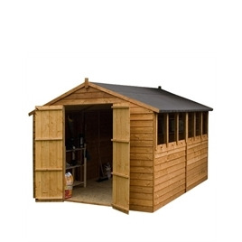 Cheshire 10x8 Shiplap OSB Apex Shed  double doors Reviews