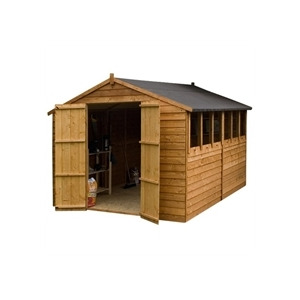 Photo of Cheshire 10X8 Shiplap OSB Apex Shed  Double Doors Shed
