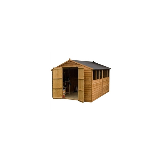 Cheshire 10x8 Shiplap OSB Apex Shed  double doors