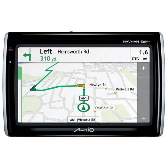 Mio Navman Spirit 500 Traffic with UK & ROI Maps