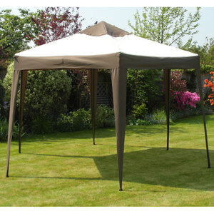 Photo of Deluxe Aluminium Hexagonal Pop Up Gazebo Diameter 3.6M Garden Equipment