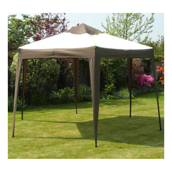 Deluxe Aluminium Hexagonal Pop Up Gazebo Diameter 3.6m