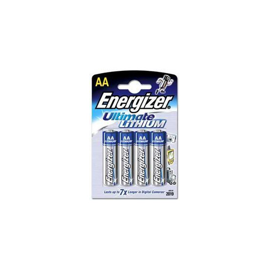 Energizer Ultimate Lithium AA Batteries Pack Of 4
