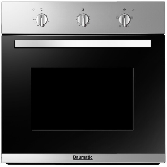 Baumatic BO612.5SS Built In Oven Fanned Single Stainless Steel