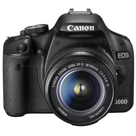 Canon EOS 500D with Canon EF-S 18-55mm IS lens