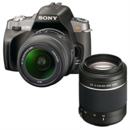 Sony Alpha DSLR-A380Y with 18-55mm and 55-200mm lenses Reviews