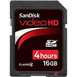 SanDisk Video HD SDHC 16GB Card Reviews