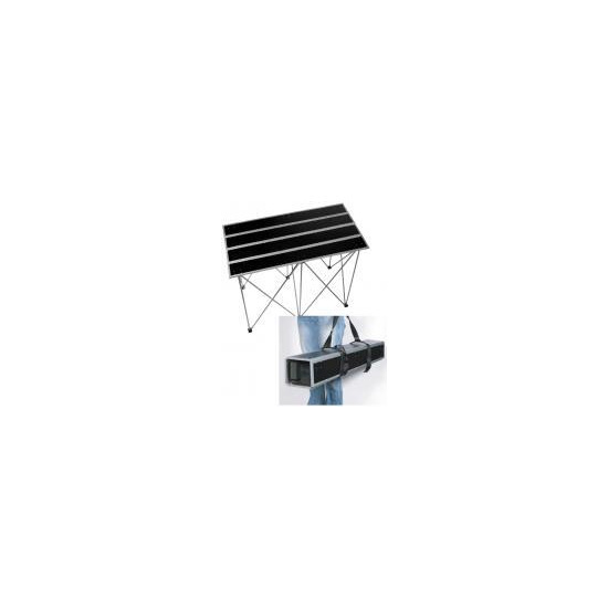 """ROAD READY FOLD OUT 30"""" TALL MULTIPURPOSE TABLE WITH COMPACT SHOULDER CARRYING OPTION RRSTANDT1"""