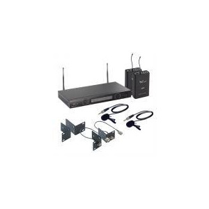 Photo of W Audio TPT-202 Twin UHF Lapel Mic System  Microphone
