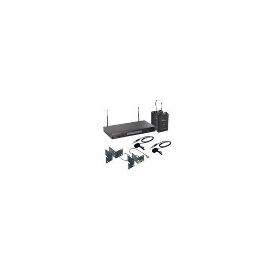 W Audio TPT-202 Twin UHF Lapel Mic System