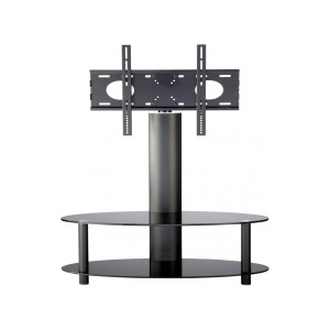 Photo of Alphason Accord ARB1100/2-BLK Cantilever LCD TV Stand In Black Glass With Black Legs TV Stands and Mount