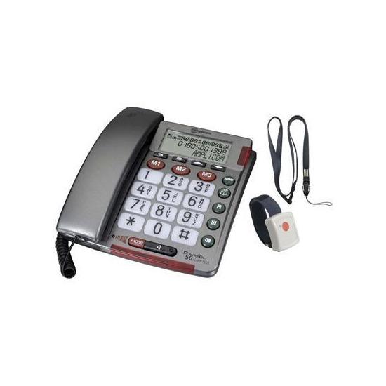 Amplicom Powertel 50 Alarm Plus Phone with Alarm Pendant