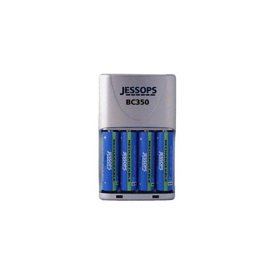 BC350 Travel Charger with 4x AA 2500mAh Ni-MH Batteries