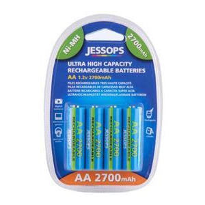 Photo of NiMh Batteries, AA 2700MAH, Pack Of 4 Battery