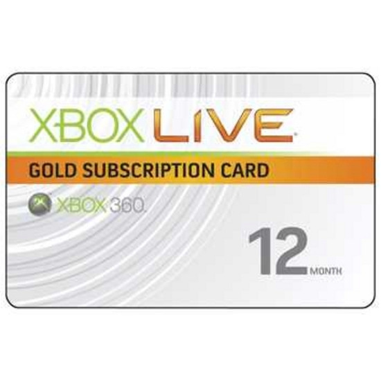 Xbox Live 12 Month Gold Subscription