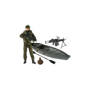Photo of HM Armed Forces Royal Marine Commando With Canoe Toy