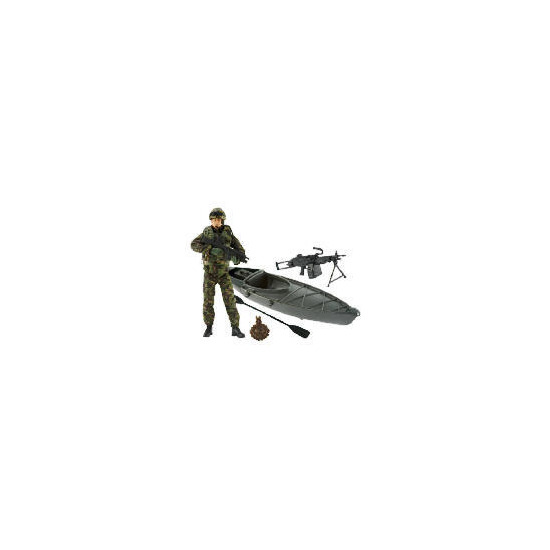 HM Armed Forces Royal Marine Commando with Canoe